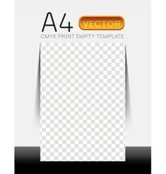 Empty flyer show room vector