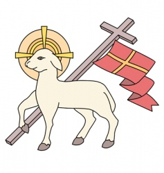 Lamb as a symbol of easter vector