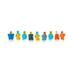 Wednesday colorful title - paper cut people and vector