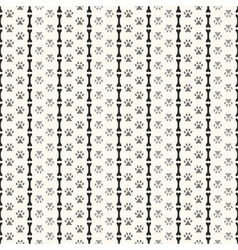 Seamless animal pattern of paw footprint and bone vector