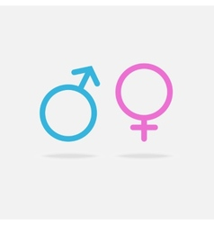 Male and female sexual orientation icon vector