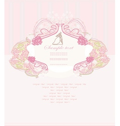Elegant wedding invitation with wedding couple vector