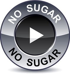 No sugar round button vector