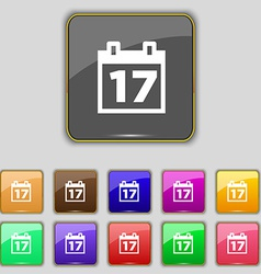 Calendar date or event reminder icon sign set with vector