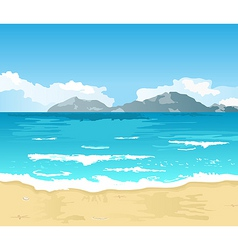 Beautiful summer background with beach vector