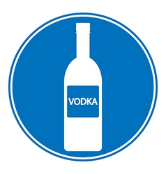Vodka sign is allowed to drink vector