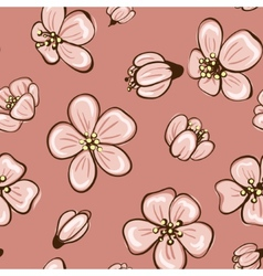 Cherry blossom or sakura seamless background vector