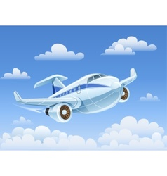 Passenger airplane flying in vector