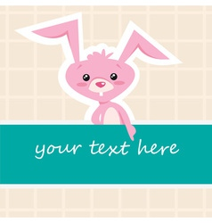 Cartoon bunny card vector