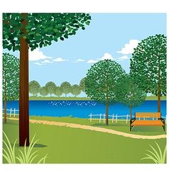 Park scene background vector