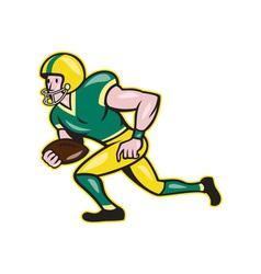 American football wide receiver running ball vector