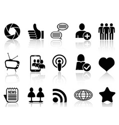 Social networking and communication icons set vector