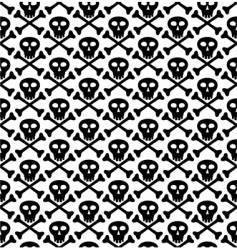 Skull black pattern vector