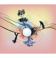Abstract colorful golf background vector