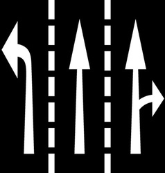 Road arrows vector