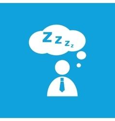 Sleeping icon vector