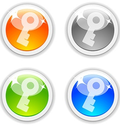 Key buttons vector