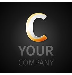 Abstract logo letter c vector