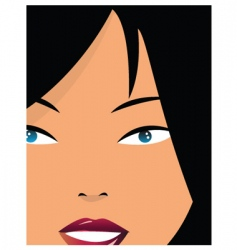 Girl closeup vector