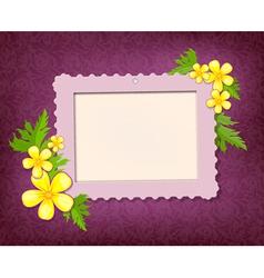 Garden frame vector