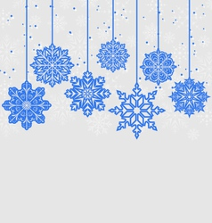 Christmas card with variation snowflakes vector