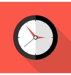 Clock deadline flat icon vector