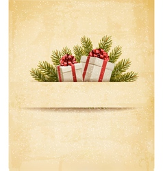 Holiday background with gift ribbon with gift box vector
