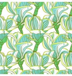 Seamless floral pattern with magnolia blossom vector