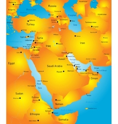 Middle east vector