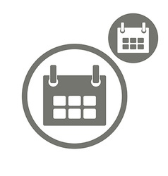 Calendar simple single color icon isolated on vector