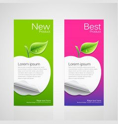 Brochure design apple vector