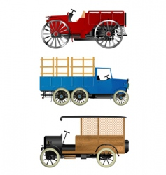 Old trucks vector