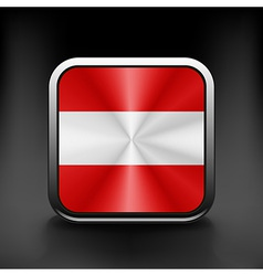 Austria waving flag national travel icon country vector