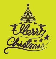 Holidays merry christmas lettering vector