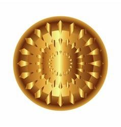 Golden light circular radial geometric dynamic sha vector