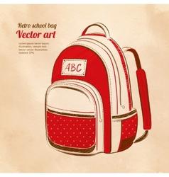 School bag vector