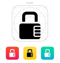 Lock with password icon vector