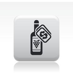 Wine price icon vector
