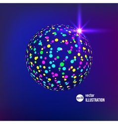 Abstract glitterball vector