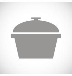 Pan black icon vector