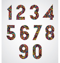 Trendy numbers design decorated with beautiful vector
