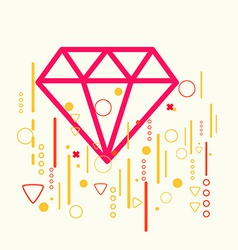 Diamond on abstract colorful geometric light vector