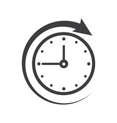 Icon of symbol sign open around the clock or 24 vector