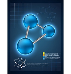 3d molecular infographic template design vector