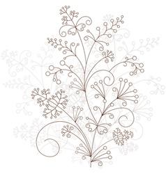 Floral design grassy ornament vector