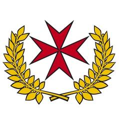 Maltese cross vector