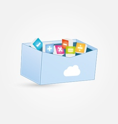 Cloud maths box vector