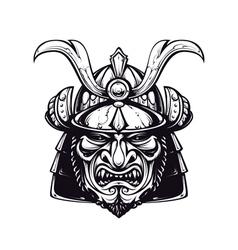 Samurai mask 4 vector