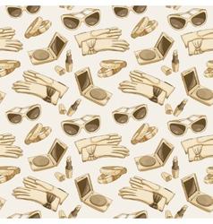 Seamless women fashion accessories wallpaper vector