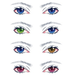 Colorful male eyes2 vector